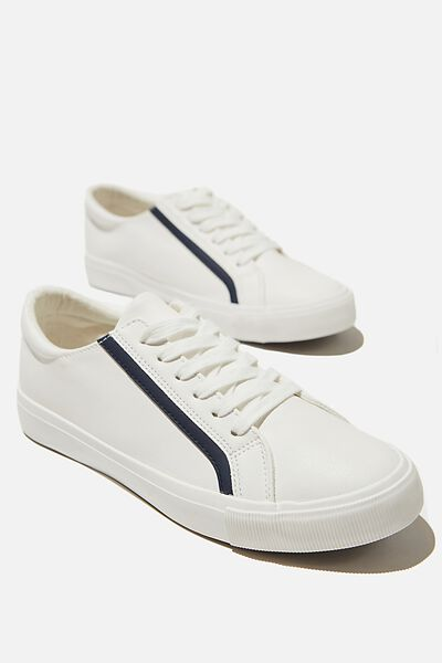 Emmy Retro Low Rise Sneaker, WHITE NAVY RED