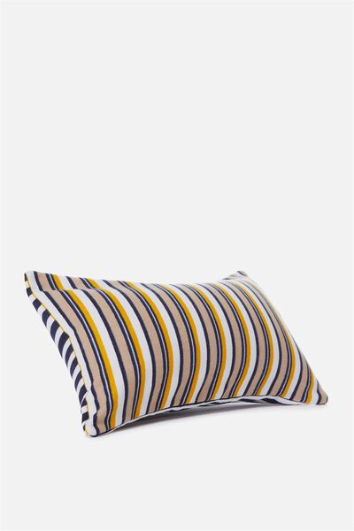 Waikiki Inflatable Pillow, RUST NAVY STRIPE