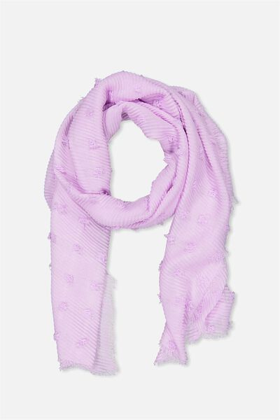 Penny Pleated Midweight Scarf, VIOLET SKY TEXTURE
