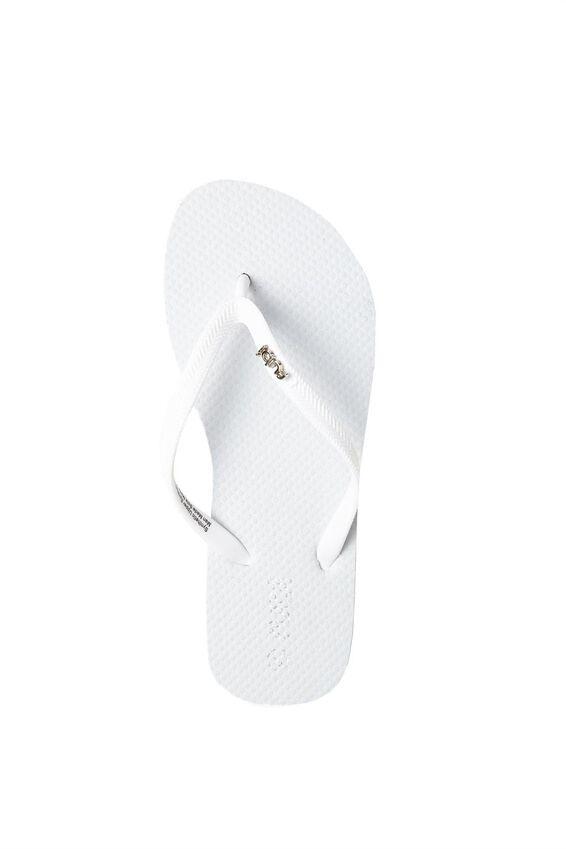 Rubi Flip Flop, MATTE WHITE