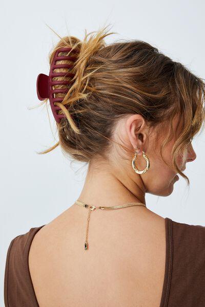 Rachel Hair Claw, MATTE WINE