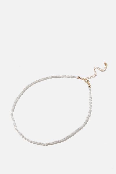 Treasures Short Pendant Necklace, GOLD PEARL CHAIN