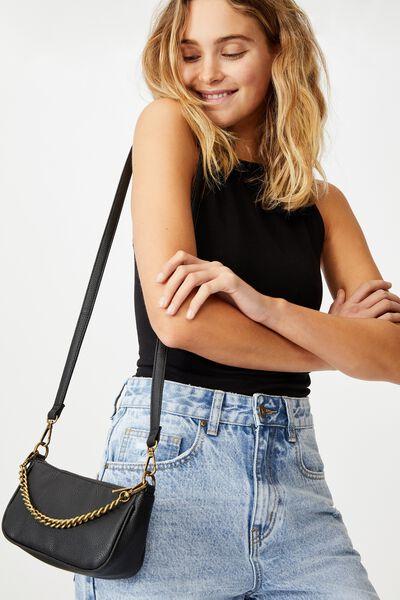 Sophia Chain Cross Body Bag, BLACK