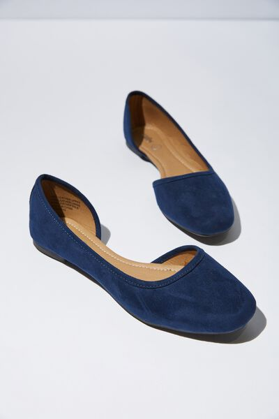 Stephanie Square Toe Dorsay, NAVY MICRO