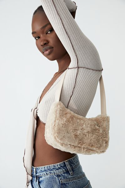 Nadia Underarm Bag, SAND FLUFFY