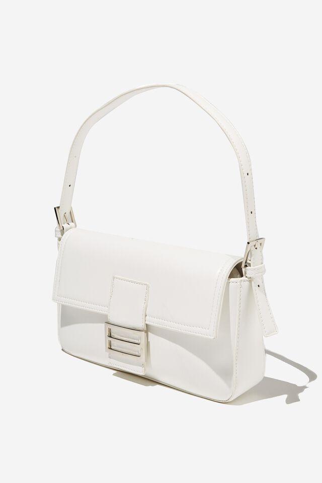 Amy Shoulder Bag, WHITE