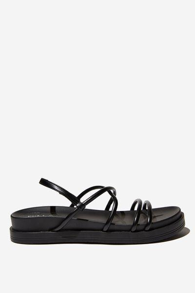 Daria Tubular Sporty Sandal, BLACK PU
