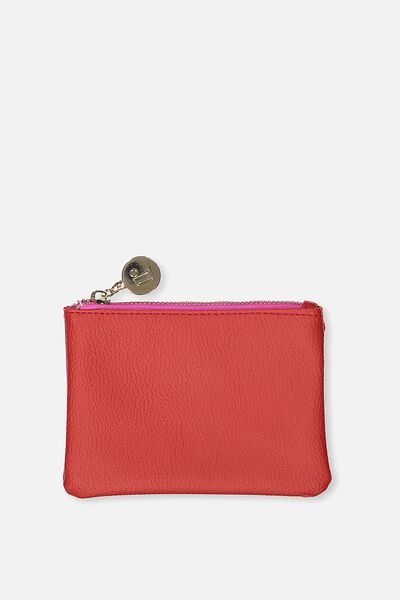 Meadow Coin Purse, POPPY RED