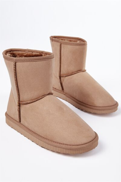 Short Home Boot, HONEY TAN