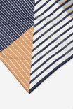 Soho Cotton Scarf, NAVY SPLICED STRIPE