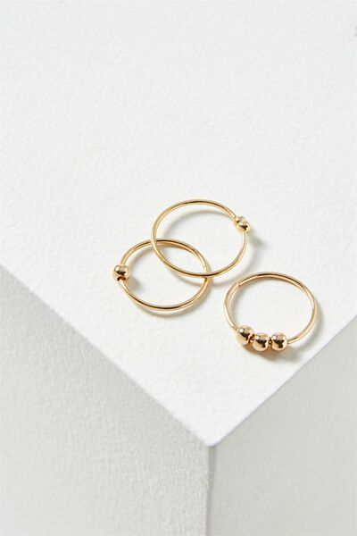 Marley Metal Ring Set, GOLD