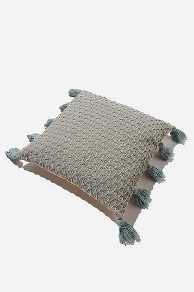 Tassel Cushion, SAGE