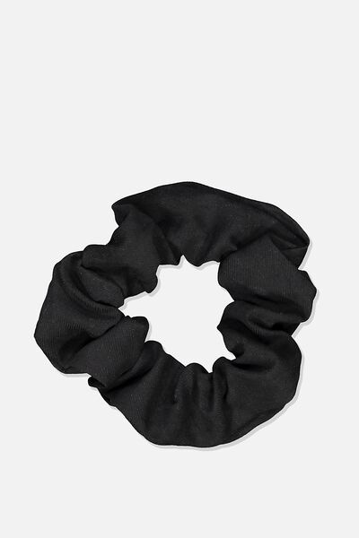 So Me Scrunchie, BLACK SOFT BRUSHED