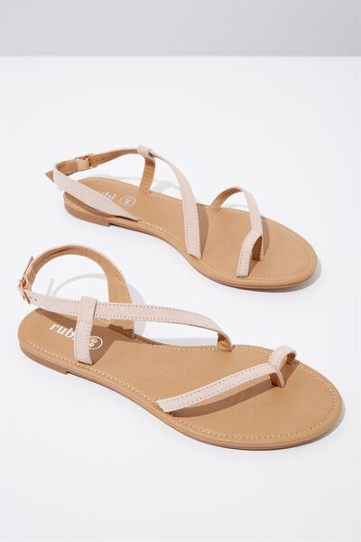 Everyday Annie Asymetric Sandal, DUSTY ROSE MICRO