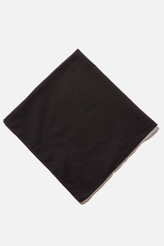 Soho Bandana, BLACK COTTON