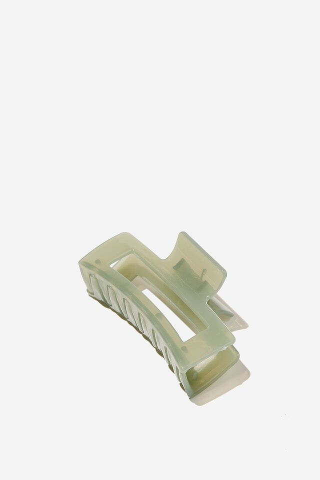 Amber Hair Claw, TRANSPARENT MINT