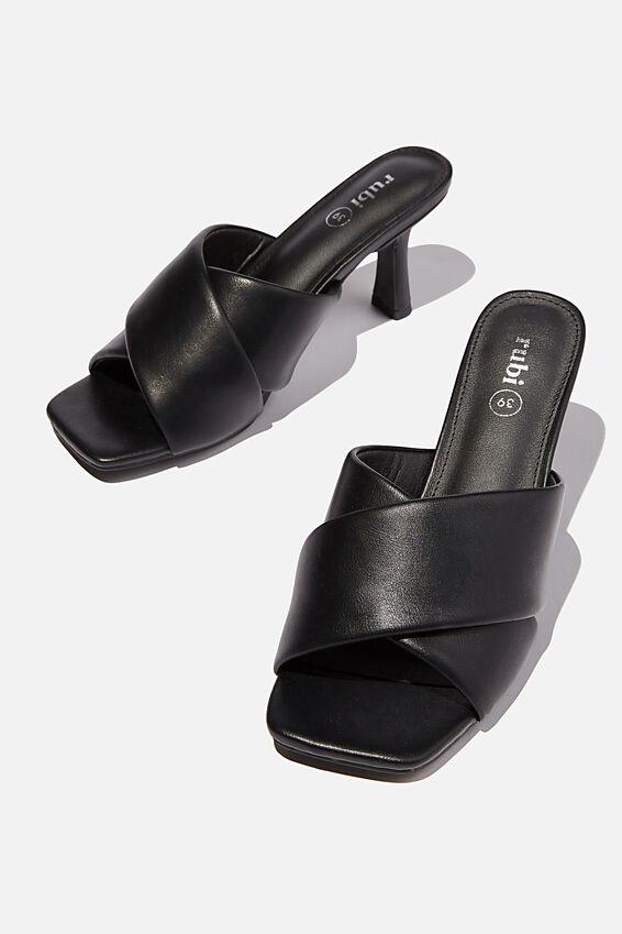 Sofia Soft Volume Heel, BLACK PU