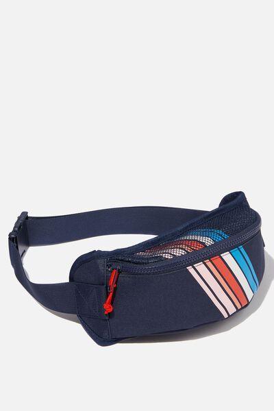 Back To It Belt Bag, BLUE STRIPE