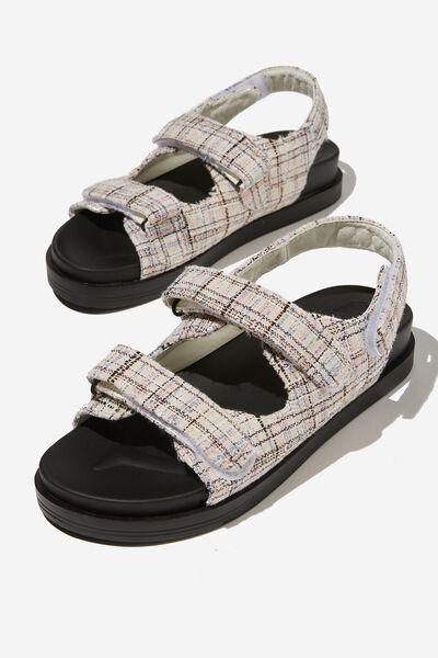 Taylor Velcro Sporty Sandal, BLUSH MULTI TWEED