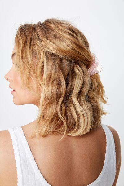 Licia Medium Hair Claw, PINK FLECK