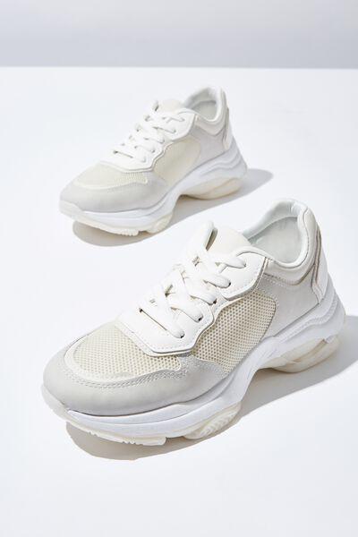 Monica Sleek Chunky Sneaker, CREAM WHITE MULTI