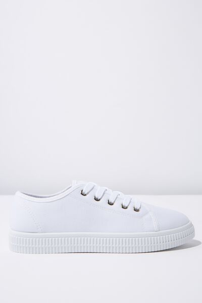 Chelsea Creeper Plimsoll, WHITE CANVAS