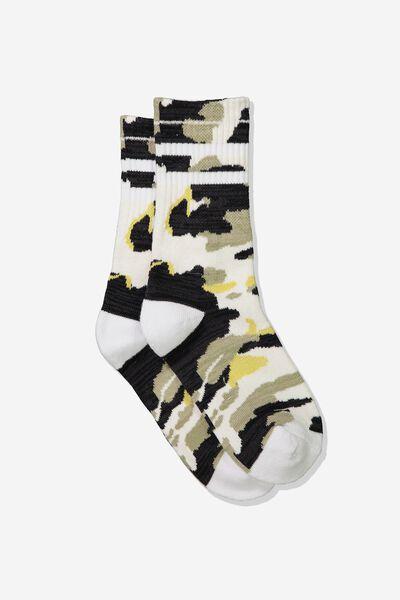 Sporty Stripe Crew Sock, CAMO STRIPE