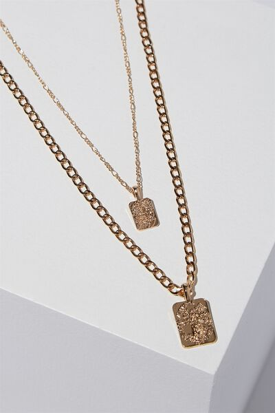 Tunisia Necklace, GOLD