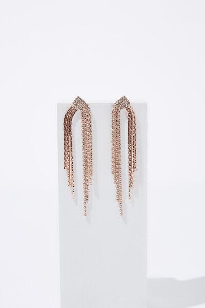 Radiant Bling & Glow Bling Earring, ROSE GOLD