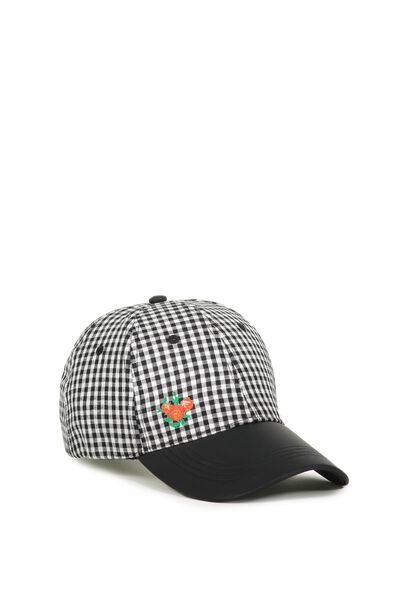 Nancy Cap, B&W GINGHAM