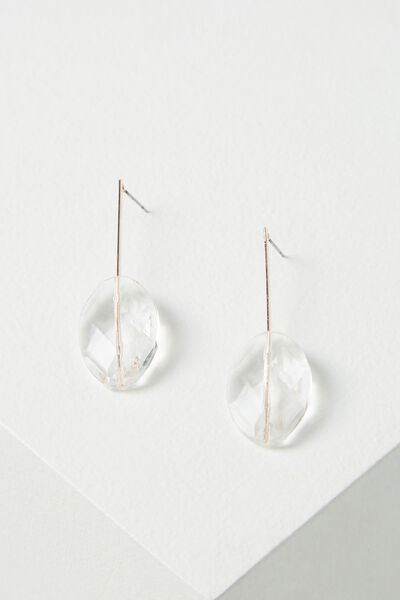 Southport Earring, CLEAR/ROSE GOLD