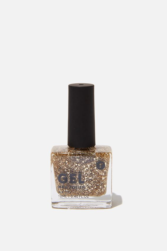 Gel Nail Polish, GOLD GLITTER