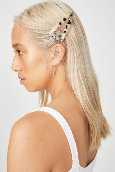 Samantha Barrette Hair Clip, MILKY TORT