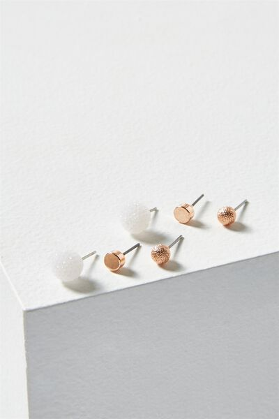Sophie Core Stud Pack, ROSE GOLD
