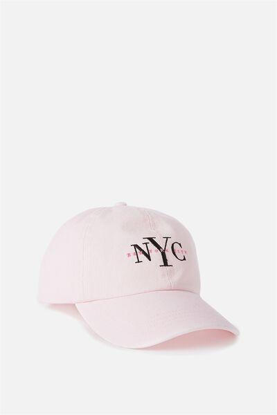 Nancy Cap, BLUSH TWILL/NYC