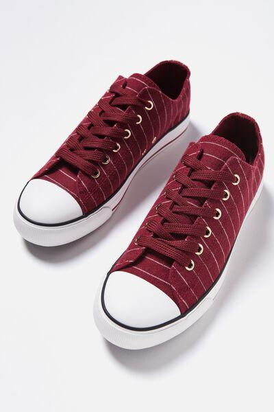 Jodi Low Rise Sneaker 1, RASPBERRY STRIPE