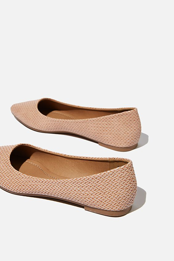 Primo Point, DUSTY ROSE WOVEN EMBOSS PU