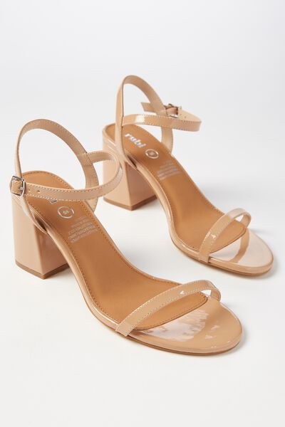 Billy Thin Strap Heel, CINNAMON PATENT