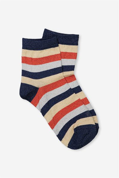 Dorothy Sparkle Sock, BOLD STRIPE