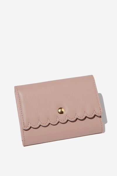 Scalloped Edge Wallet, ASH ROSE