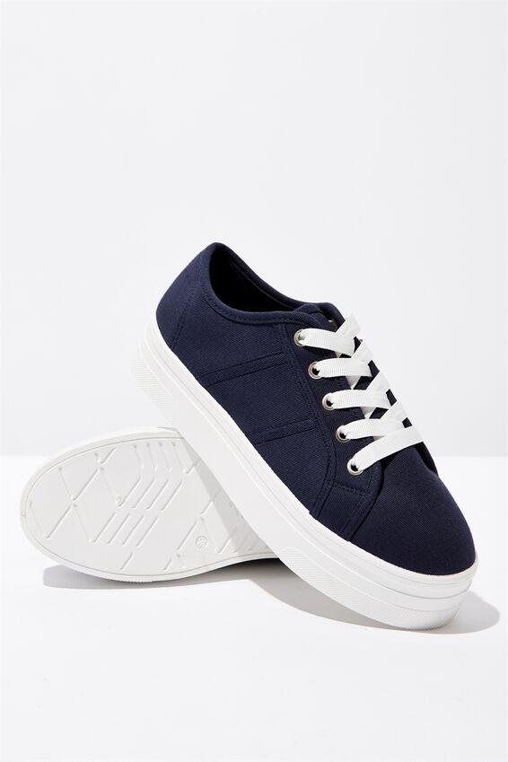 Willow Platform Sneaker, NAVY