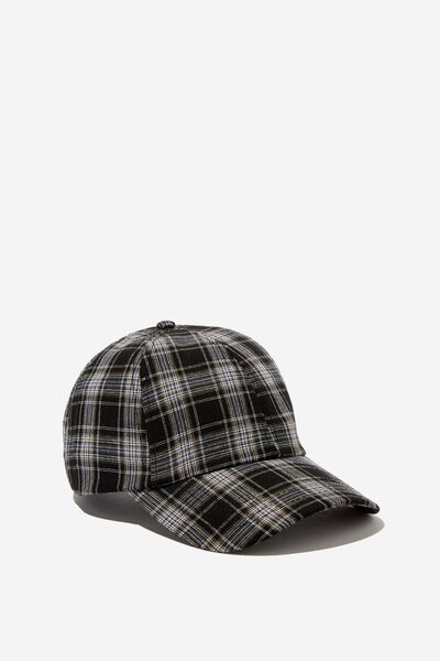 Kaia Cap, BLACK/WHITE CHECK