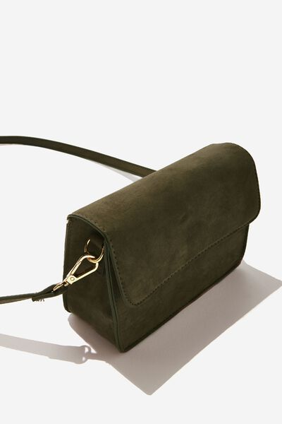 Boxy Cross Body Bag, KHAKI MICRO