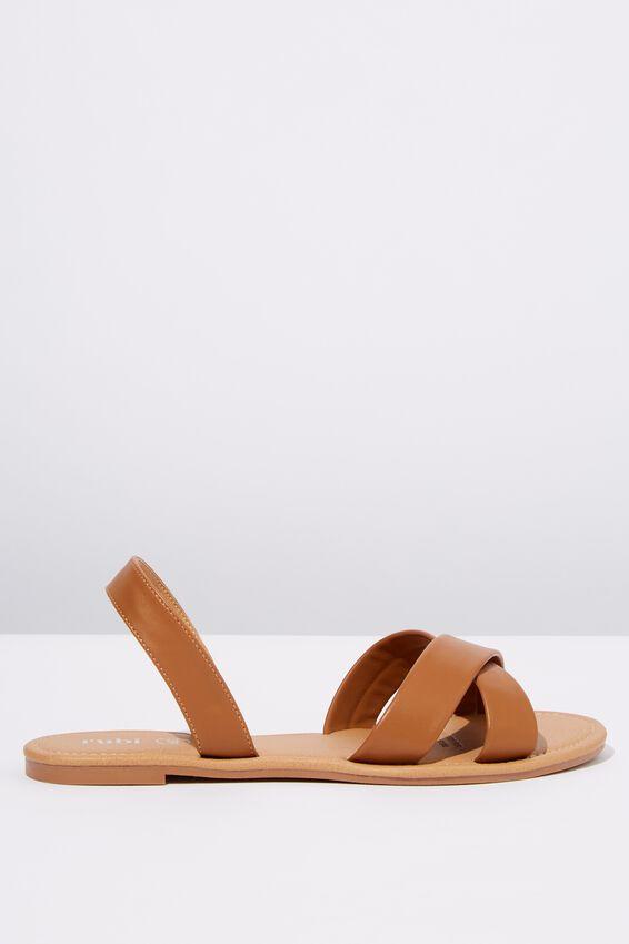 Everyday Banting Crossover Sandal, TAN PU
