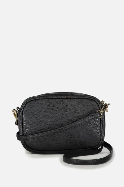 Cameron Cross Body Bag, BLACK