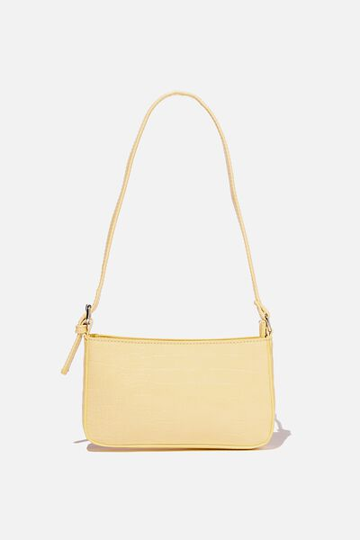 Lexi Underarm Bag, LEMON TEXTURE