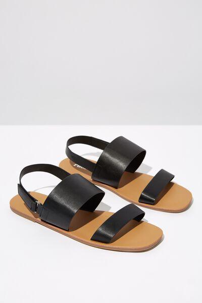 Isla Sling Back Sandal, BLACK PU