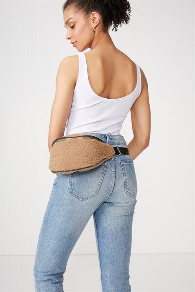 Elisa 2 Webbing Belt Bag, CINNAMON TEDDY