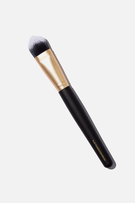 Flat Foundation Brush, BLACK/ GOLD