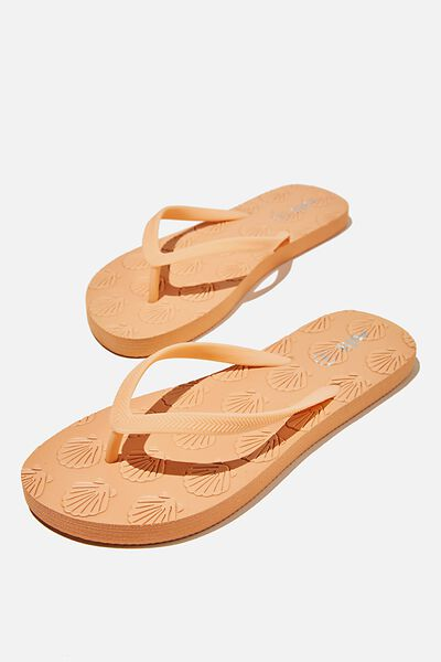 The Rubi Flip Flop, SHELL MELON EMBOSSED
